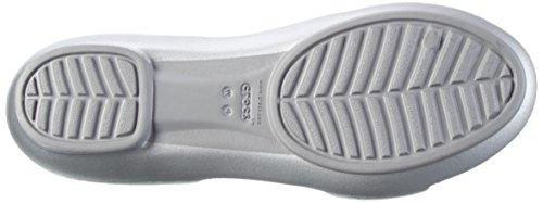 Lina Crocs Dorsay silver Women's Flat Silver Sandal 5qqwfpxr