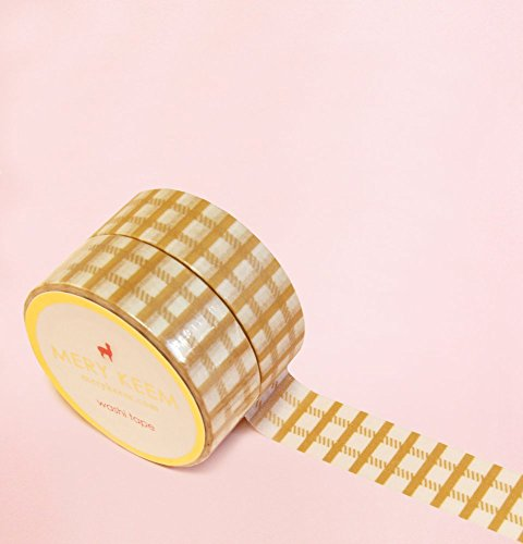 Kakki Plaid Washi Tape for Planning • Scrapbooking • Arts Crafts • Office • Party Supplies • Gift Wrapping • Colorful Decorative • Masking Tapes • DYI
