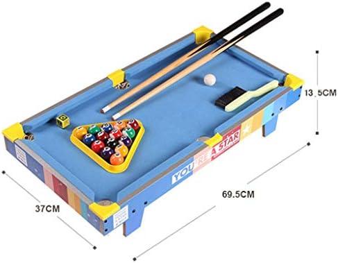 Mini mesas de billar Mesa De Billar Home Desktop Para Niños Pequeño Mini Mesa De Billar Snooker Creativo Regalo De Cumpleaños Para Niños Mesa De Billar (Color : Blue , Size :