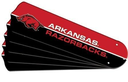 Ceiling Fan Designers 7992-ARK New NCAA ARKANSAS RAZORBACKS 42 in. Ceiling Fan Blade Set by Ceiling Fan Designers