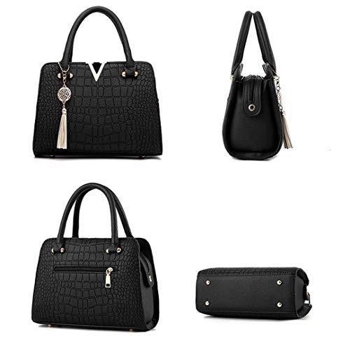 Pelle A Da Donna In Gray Tracolla Black Vintage Borse Grandi 0Bdqfwq