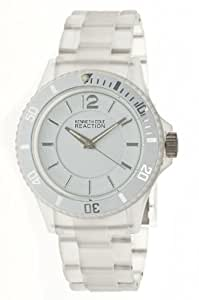 Kenneth Cole REACTION Women's RK4120 Transparent Clear White Analog Watch