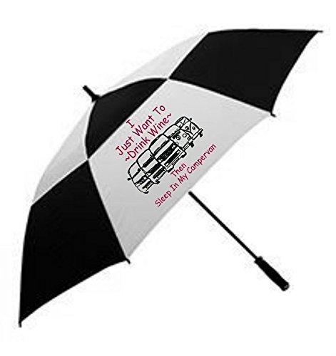 BEETLE-INK VW Campervan Large Umbrella converts to Parasol