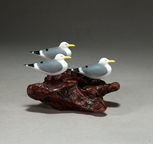 Trio Sea Gull (SEAGULL TRIO from JOHN PERRY 6in long Sculpture Statue Airbrushed)