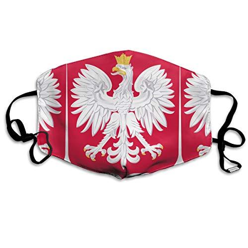 Poland National Emblem Mouth Mask Unisex Anti-dust