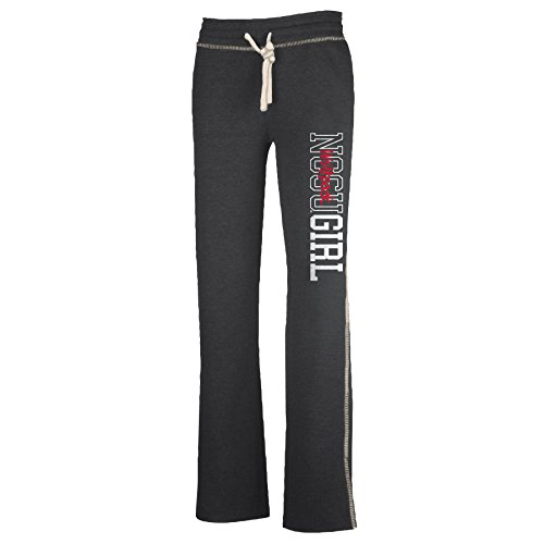 NCAA North Carolina State Wolfpack W Lounger Pant, Charcoal Heather, Small