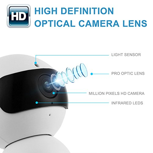 FunAce Robot WiFi Dual HD Optic Camera with 8 GB MicroSD Card