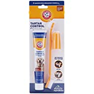 Arm & Hammer Dog Dental Care Tartar Control Kit for Dogs | Contains Toothpaste, Toothbrush & Fingerbrush | Reduces Plaque & Tartar Buildup | Safe for Puppies, 3Piece Kit, Beef Flavor