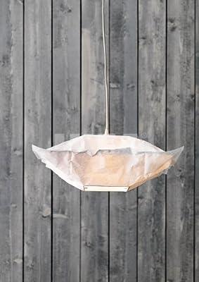 Ikea VARMLUFT Ceiling pendant Light square Lamp Shade + Cord & hooks set