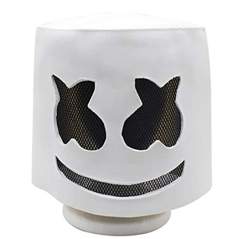 JXJ Latex Mask for Halloween, Electronic Sound Festival Marshmallow Dj Mask for Halloween Costume Party and Masquerade ()