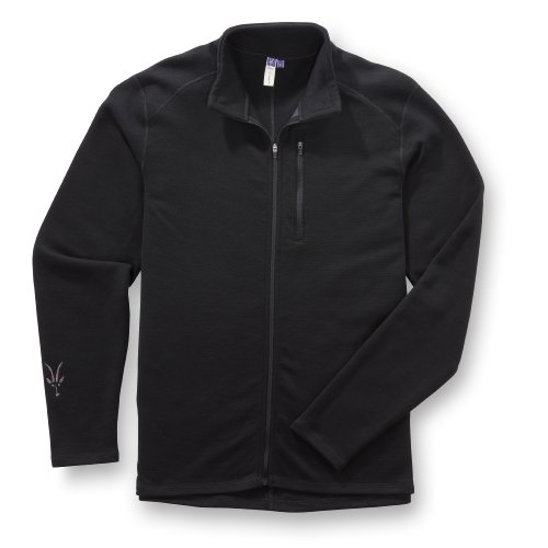 Ibex Men's Shak Full Zip Shirt, Black, Large (Wool Cycling Sweater compare prices)