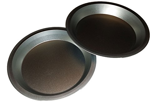 Two 9 inch Pie Pans a Heavy weight steel none stick bakeware set with even heating
