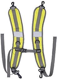 Backpack Shoulder Straps, Adjustable Reflective Padded Bag Straps