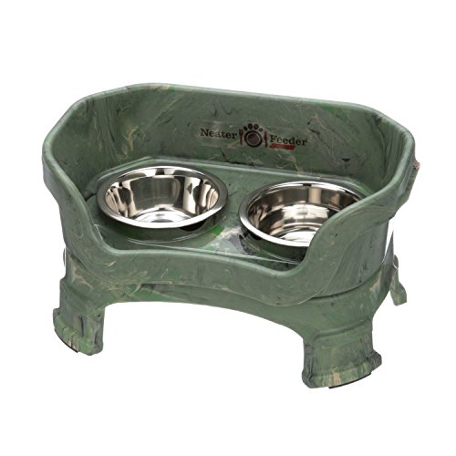 NEATER PET BRANDS Neater Feeder Deluxe with Leg Extensions (Small, Camo (Extra Small Green Camo)
