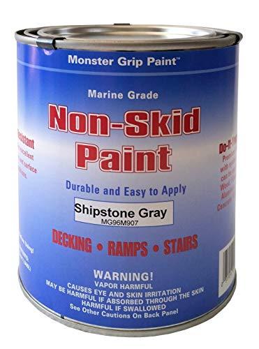 200 Sq Ft Coverage - Non-Skid Paint Marine Grade Epoxy (Shipstone Gray, Gallon, Coverage 200-300 sq. ft.)
