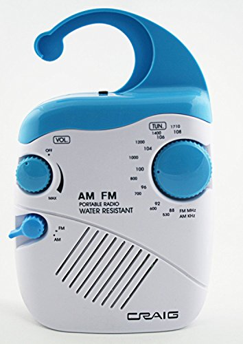 Craig Am/Fm Splash Proof Shower Radio