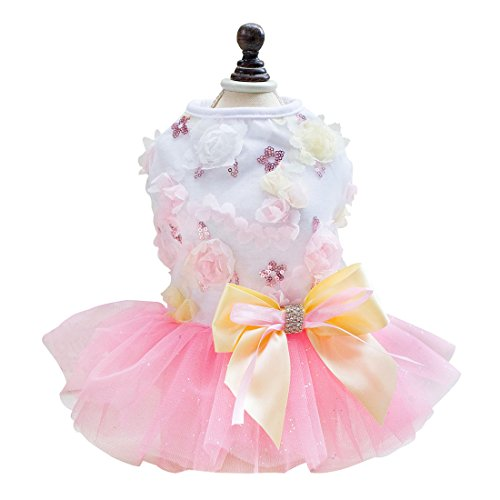 uxcell Small Pet Dog Princess Dress Cat Puppy Skirt Tutu Apparel Costume
