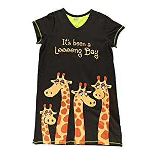 Lazy One V-Neck Nightshirts for Women, Animal Designs
