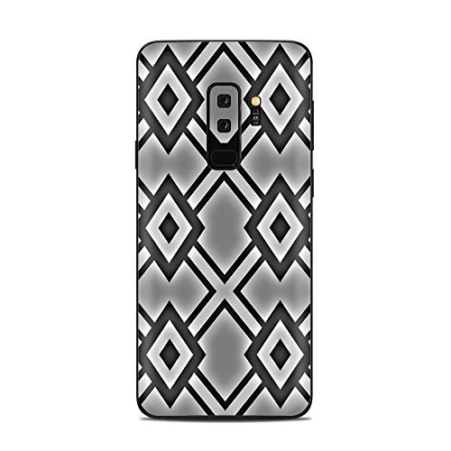 It's A Skin Decal Vinyl Wrap for Samsung Galaxy (S9 Plus S9+ only) Phone Stickers Skins Cover/Diamond Grey Pattern