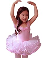 CM-Kid Little Girls' Short Sleeve Tiered Tutu Ballet Party Dresses 2-6Y