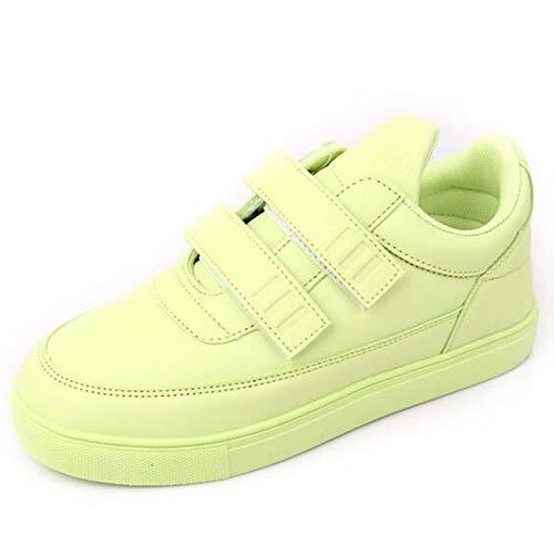 ZHZNVX PU Comfort poliuretano tacco microfibra donna Beige da Sneakers verde beige blu Primavera Scarpe in piatto XqnrBXWwS