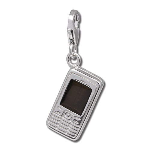SilberDream Charm smartphone mobilephone 925 Sterling Silver Pendant Lobster Clasp FC687