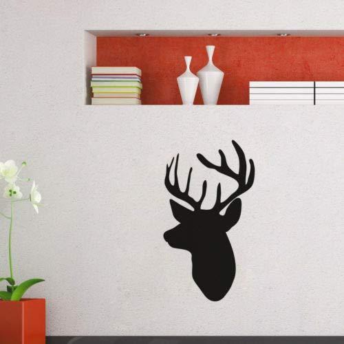 Apliques Animal Art Mural de Pared de Ciervo Silueta de Diseño de ...
