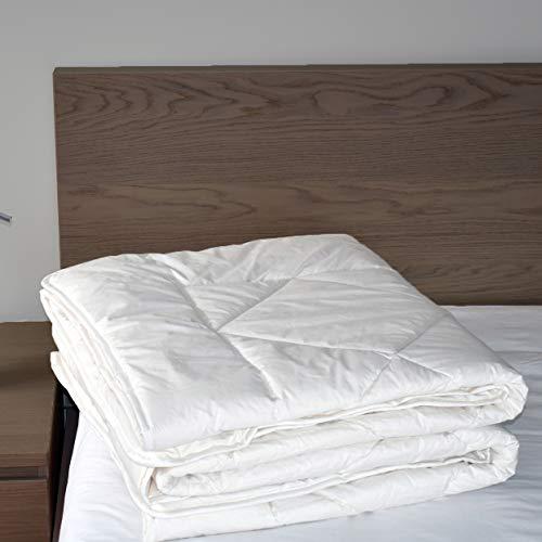 Winter Weight Wool Filled Comforter - Woolino Wool Comforter Queen Duvet, Washable, Size 88