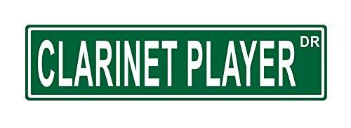 Clarinet Player Dr.24x6 funny joke humor novelty metal aluminum sign