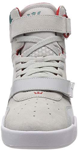 057 Sneaker Grey Alto Supra Collo Uomo Teal a Lt Breaker Grigio white 581qPU