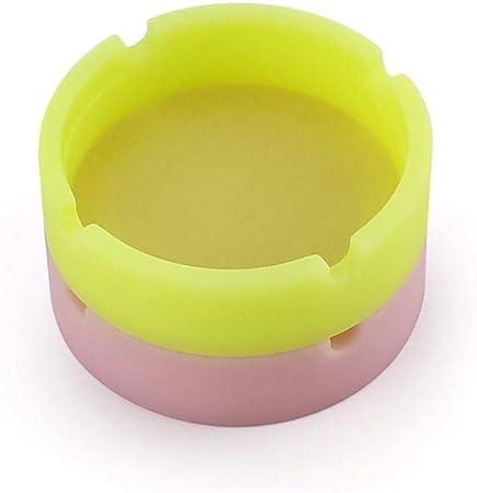 resistente alle alte temperature Hamado Posacenere in silicone luminoso non luminoso, colore: bianco design rotondo