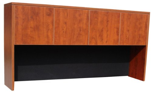 Boss 66-Inch Four Door Hutch, Cherry