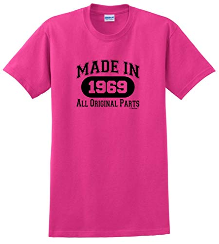 50th Birthday Party Supplies 50th Birthday Gift Made 1969 All Original Parts T-Shirt XL Heliconia