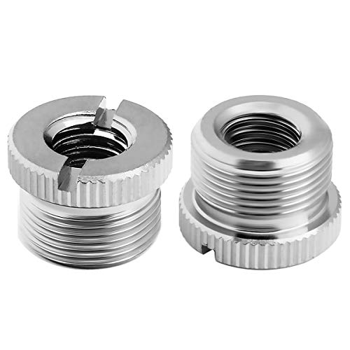 "COLICOLY 3/8""-16 Female to 5/8""-27 Male Screw Thread Adapter for Microphone Stand Mount - 2 Pack"