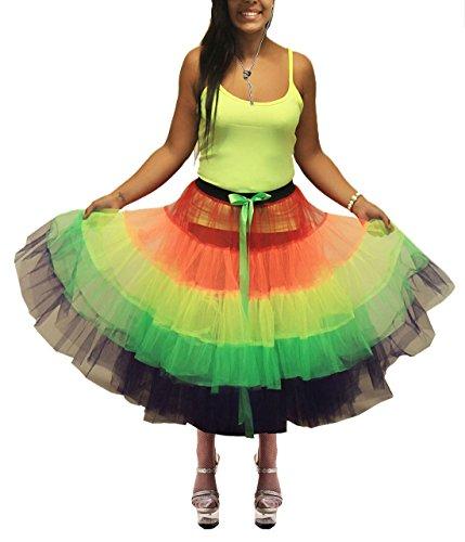 tama para 21 de mujer moda falda arco iris o Un rosa qHOHTn6