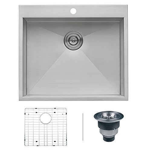 Laundry Sink Essential (Ruvati RVH8010 Overmount 16 Gauge 25