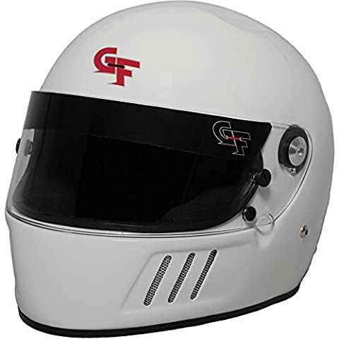 G-Force 3123LRGWH GF3 Full Face Helmet, White, Large - White Full Face Helmet