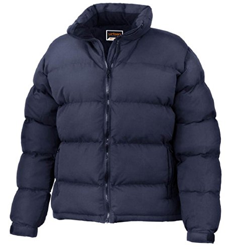 Result Urban Ladies Holkham Down Feel Jacket Womens Full Sleeve Long Zip Stylish Plain Casual Winterwarm Jacket Navy