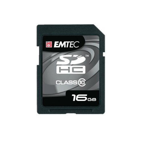 EMTEC Class 10 SDHC Flash Memory Card, 16 - Card 150x Sdhc Memory