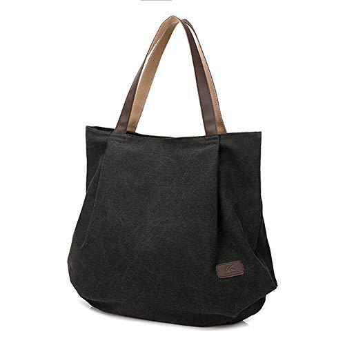 Grande Shopping tela Tote in a bag casual tracolla semplice capacità Ladies Color5 Borsa qw84Ytn