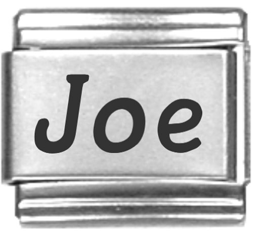 Joe Laser Name Italian Charm Link