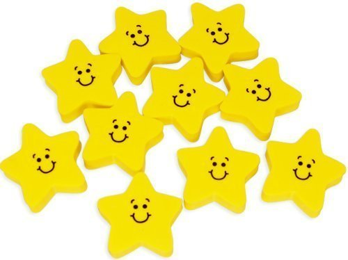 (Fun Express Smile Face Star Erasers (2-Pack of 24))