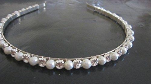 Full Crystal Rhinestone Pearl Hair Band