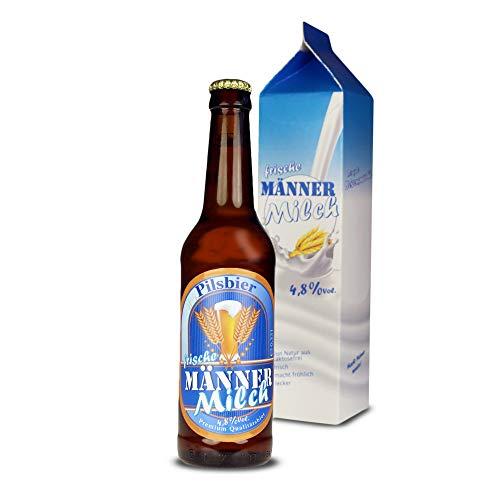 Monsterzeug Männermilch – 0,33 Liter Bierflasche in Milchverpackung, Bier in lustiger Verpackung