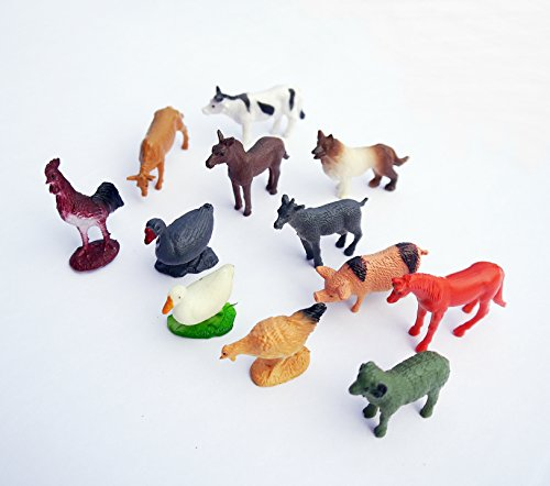Farm Animals Toy Figure (12 Count)