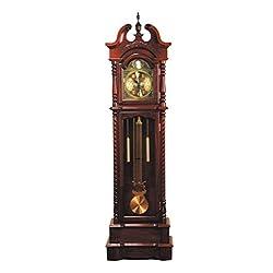 ACME 01431 Karbin Grandfather Clock, Dark Walnut Finish