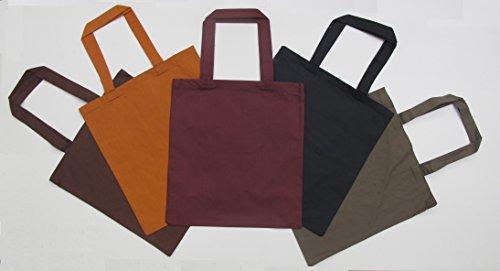 3 Set Plain Cotton Fabric Reusable Tote Bags ( Wholesale Discount Price ) (HOT PINK)