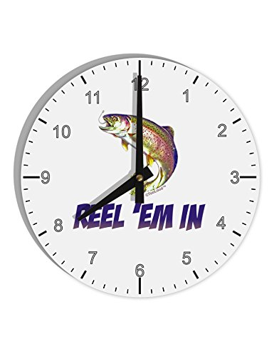 Reel Clock - TooLoud Rainbow Trout Reel Em in 8
