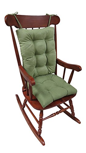 Klear Vu The Gripper Non-Slip Rocking Chair Cushion Set Honeycomb, Grass