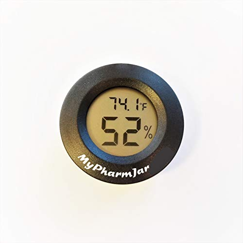 Mypharmjar Digital Hygrometer, Single Cell US Units for Temperature